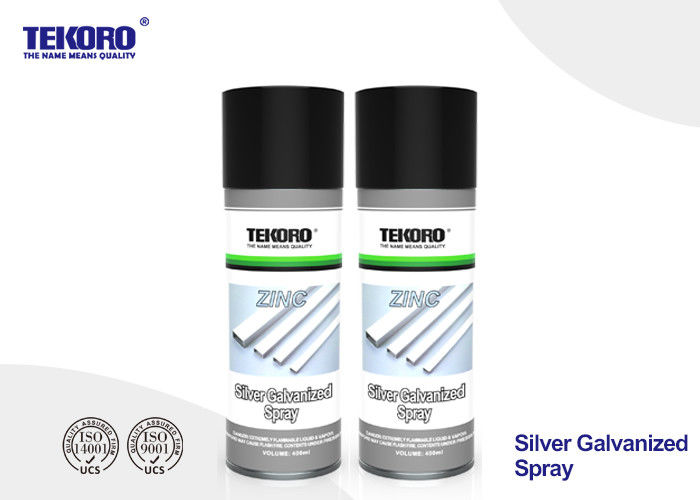 CFC Free Silver Galvanized Spray , High Coverage Rust Prevention Spray For Steel